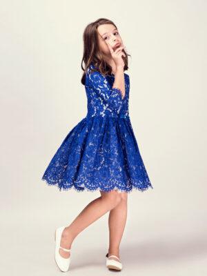 Electric Blue Girl Dress