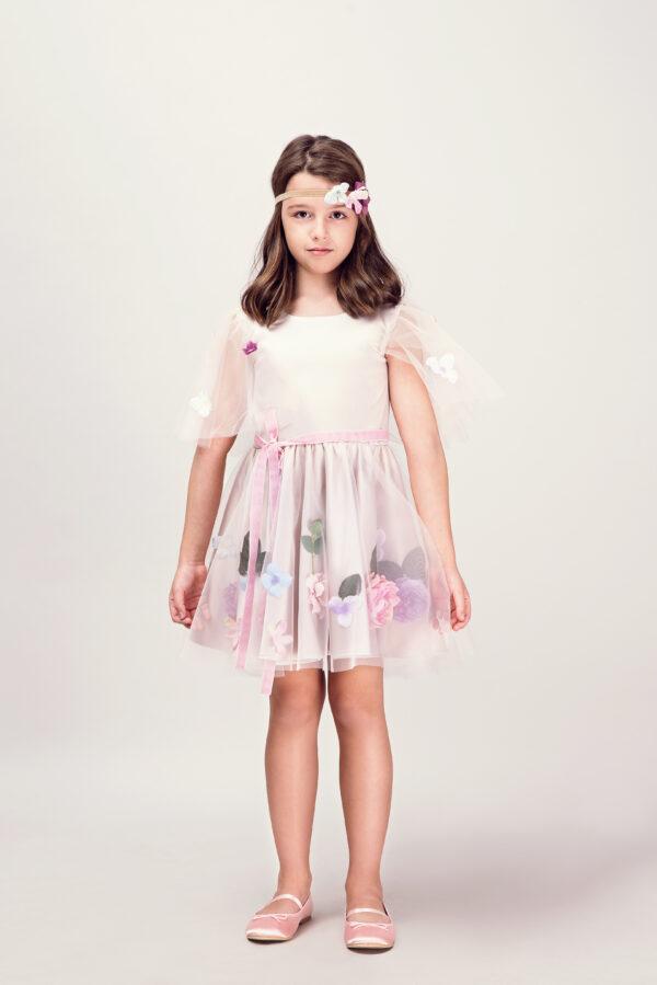 Rochie fetita Beige Lilac