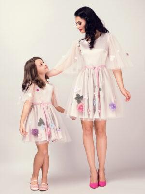 rochii mama fiica Beige Lilac