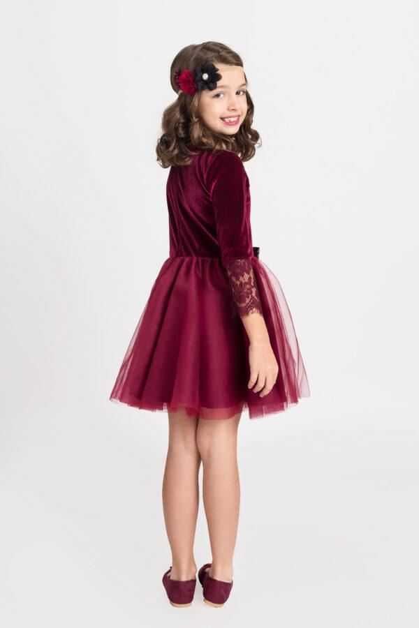 rochie fetita Velvet Red Dark