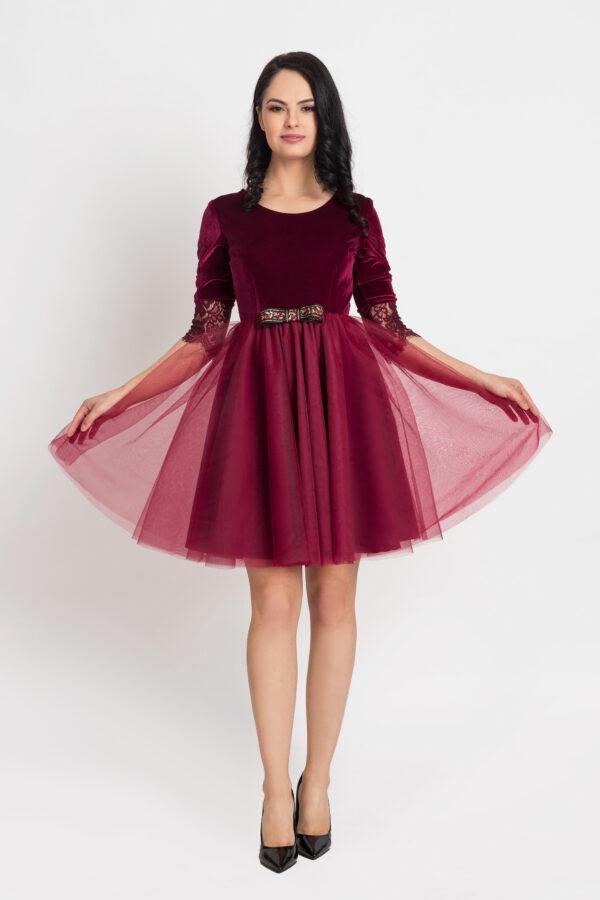rochie dama Velvet Red Dark