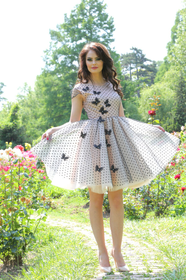 rochie Black Butterflies