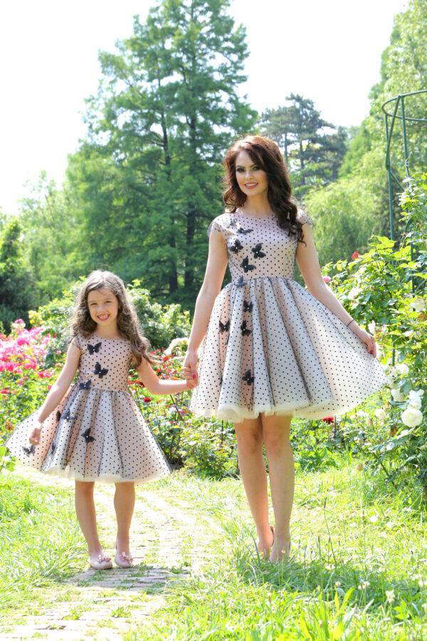 set rochii mama fiica Black Butterflies