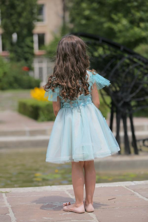 rochie fetita Caribbean Blue