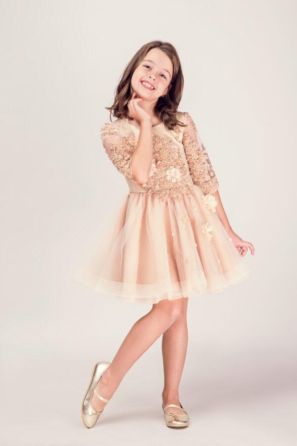 gold girl dress