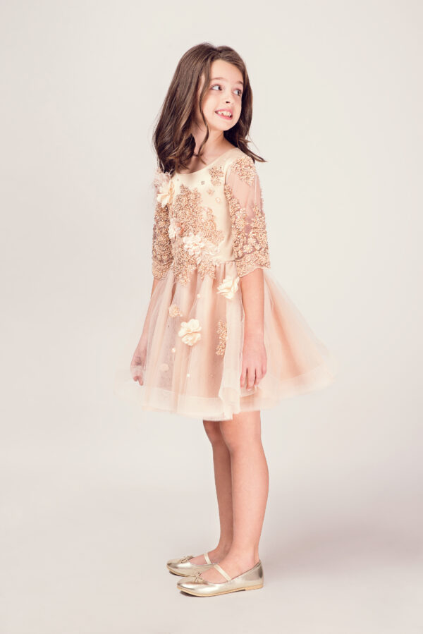 rochie fetita gold