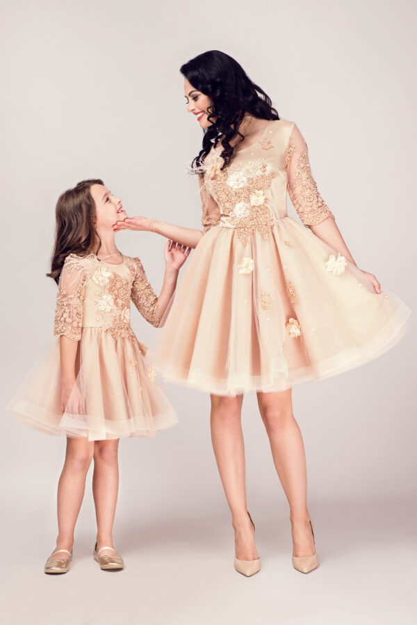 rochii mama fiica Gold