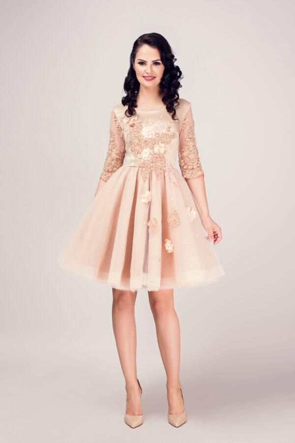 rochie dama gold