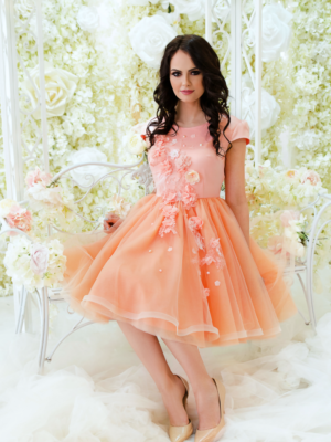 Peach Ballerina Baby Dress