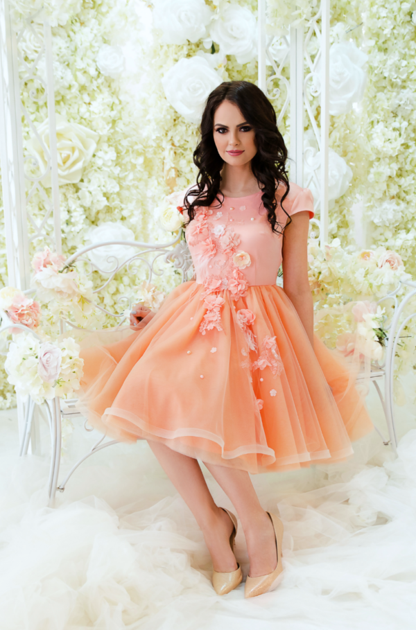 Peach Ballerina Baby Dress