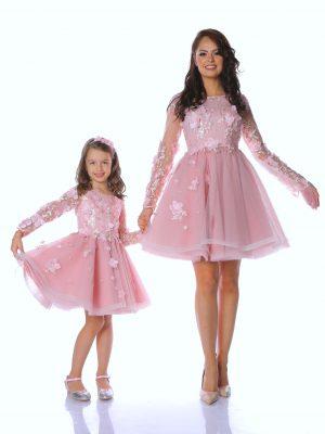 rochii mama fiica Powder Pink