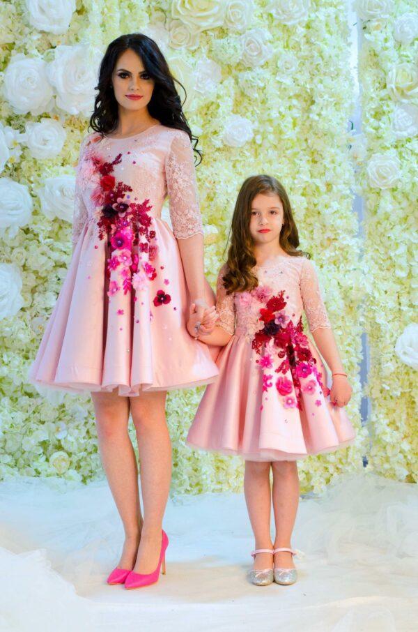 Set rochii mama fiica Royal Taffeta