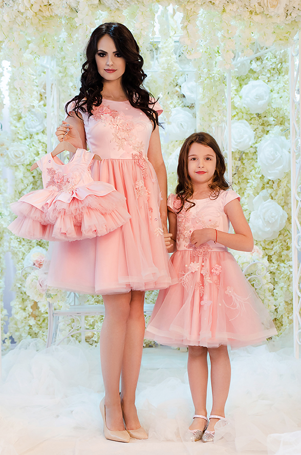 rochii mama fiica pink ballerina