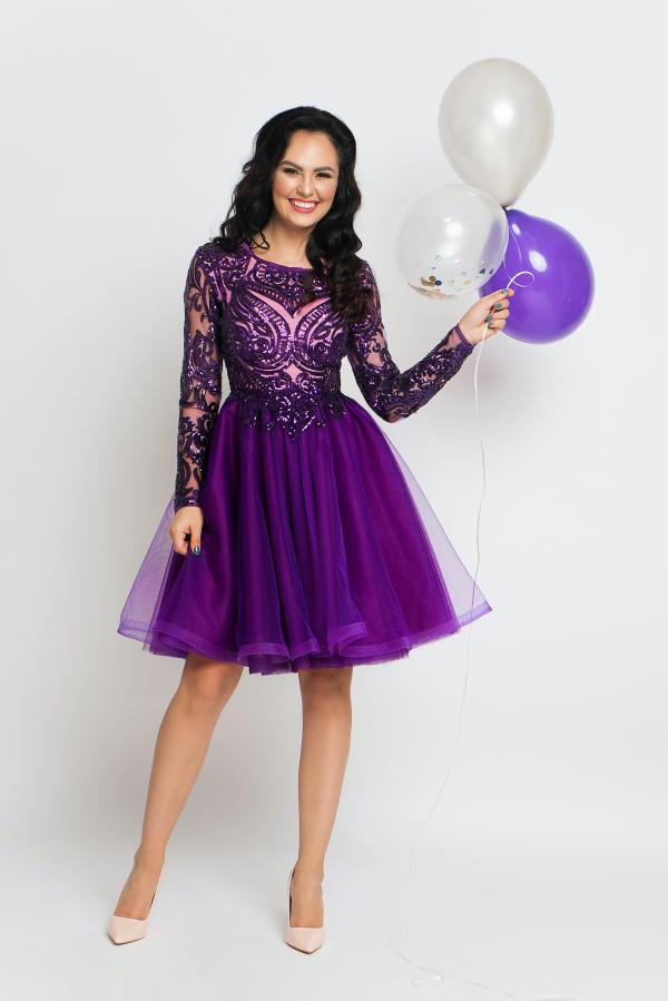 Electric Violet Dress