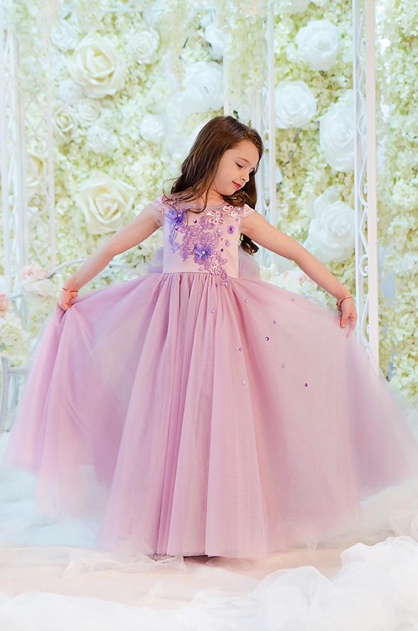 rochie fetita Lila Girl Dress