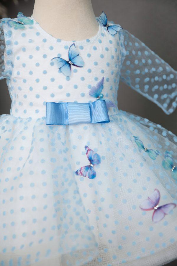 Rochie botez Blue Butterflies Dress
