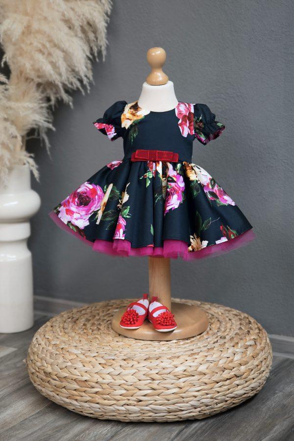 Rochie botez Navy Rose Girl Dress