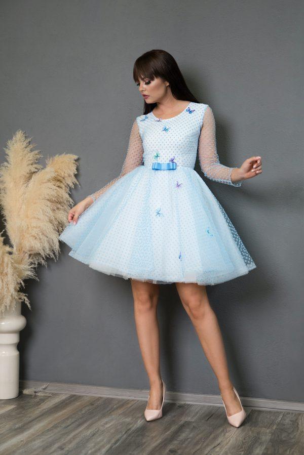 Rochie de Ocazie Blue Butterflies Dress