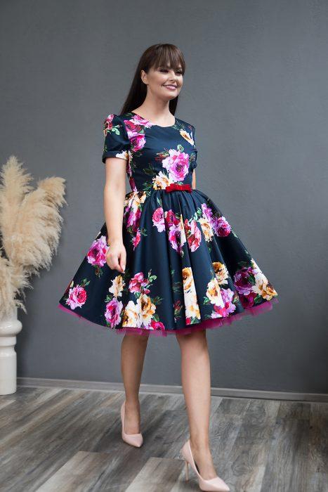Rochie de Ocazie Navy Rose Dress