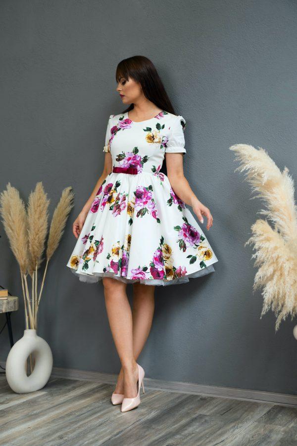 Rochie de Ocazie White Rose Dress