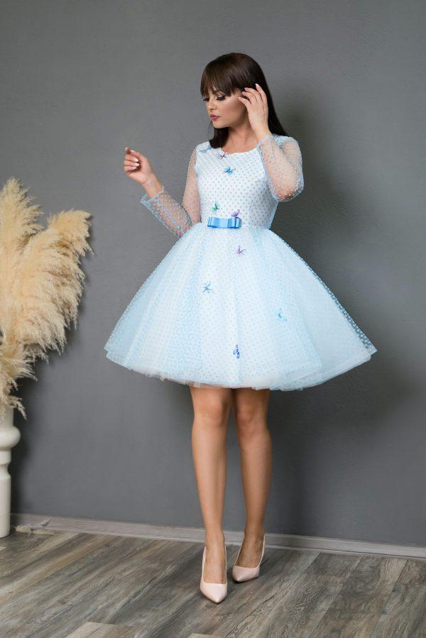 Rochie de Seara Blue Butterflies Dress