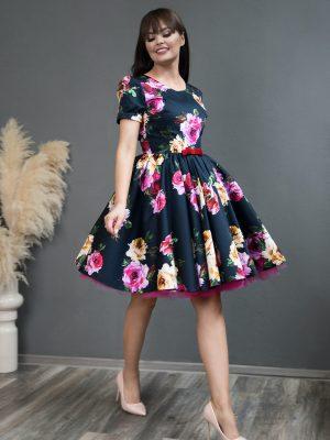 Rochie de Seara Navy Rose Dress