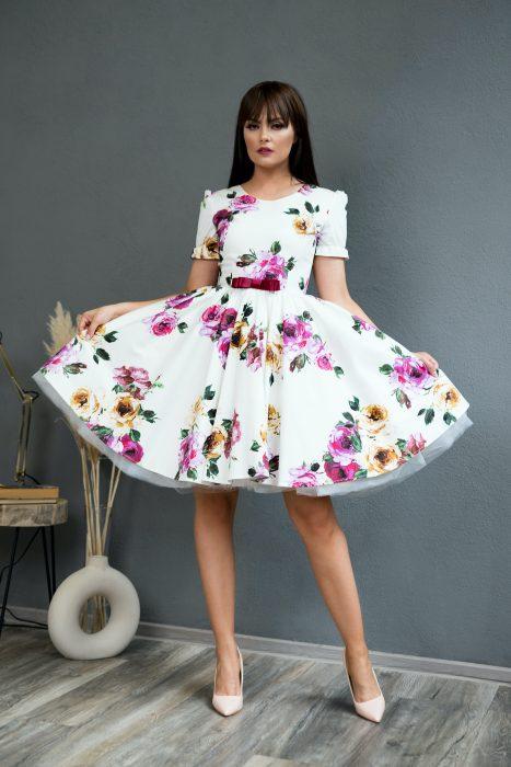 Rochie de Seara White Rose Dress