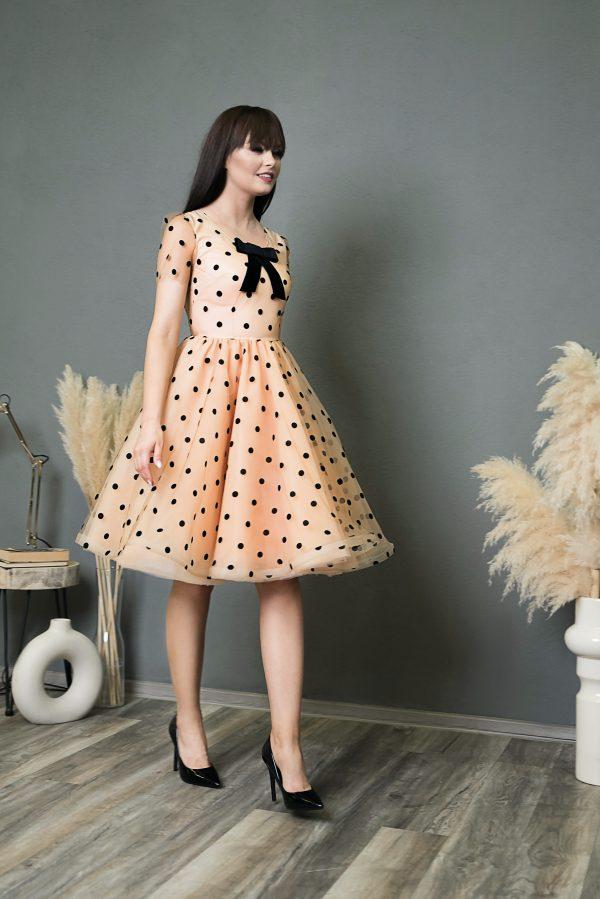 Rochie de seara Black Dots Dress