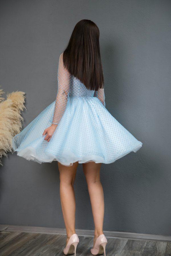 Rochie eleganta Blue Butterflies Dress