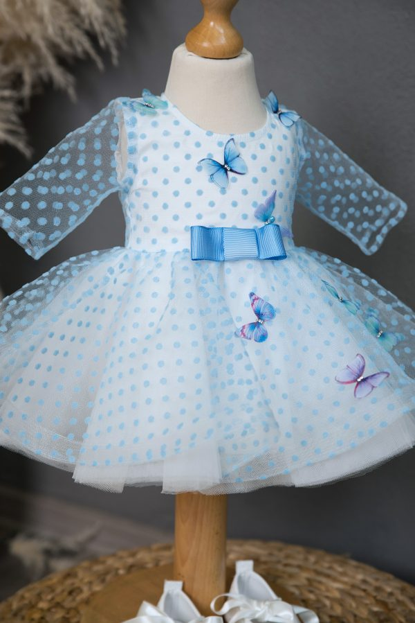 Rochie fetita Blue Butterflies