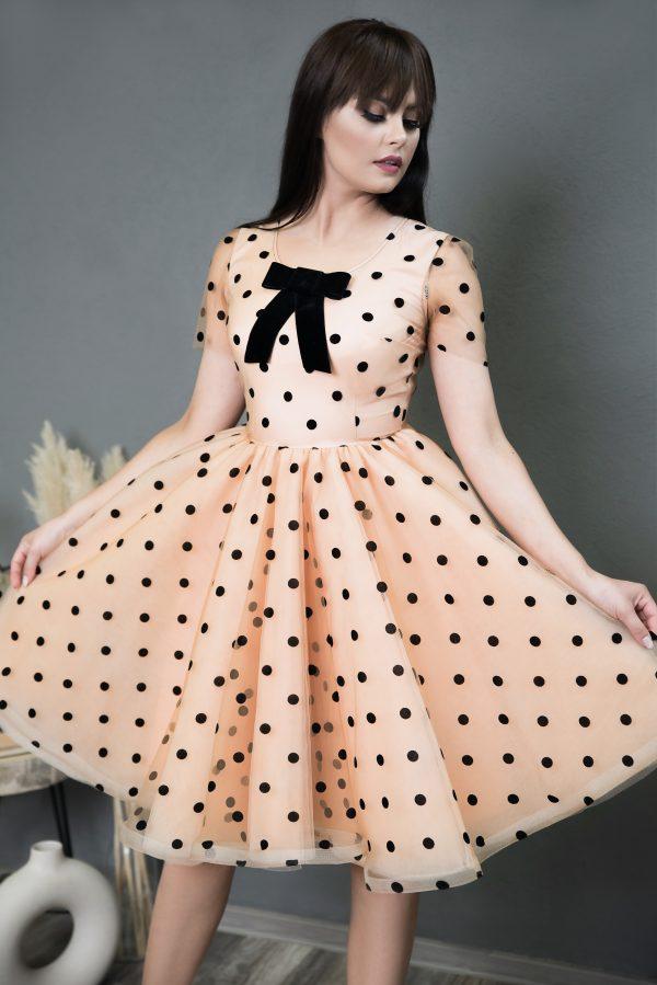 Rochie pe Comanda Black Dots Dress