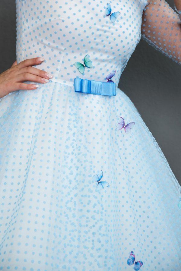 Rochie pe Comanda Blue Butterflies Dress