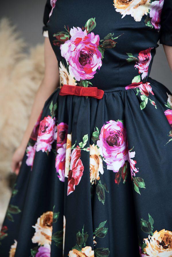 Rochie pe Comanda Navy Rose Dress