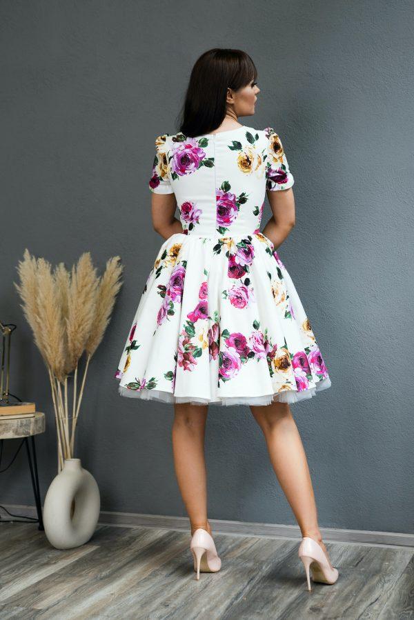 Rochie pe Comanda White Rose Dress