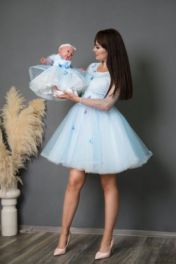 Rochii mama fiica Blue Butterflies Dress