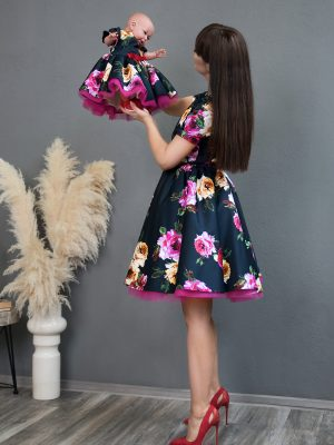 Rochii mama fiica Navy Rose Dress